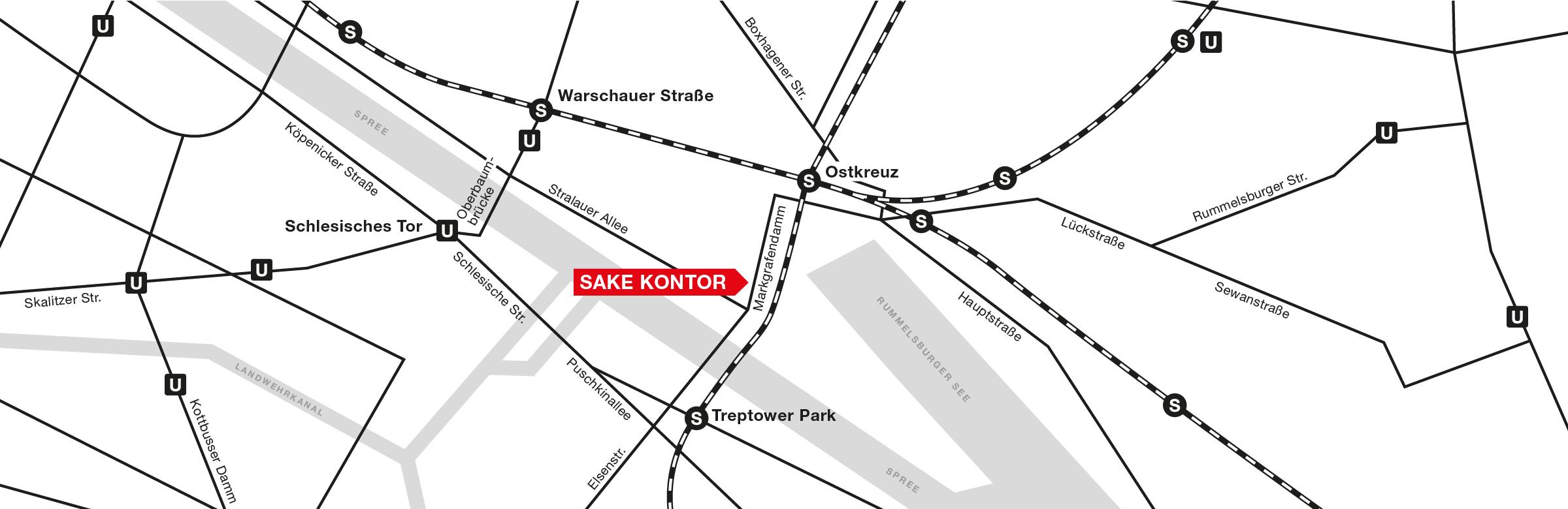 Lageplan Sake Kontor Berlin