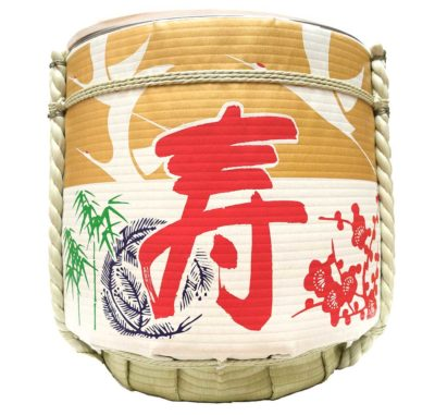 REUSE TARU Kagami Biraki Sake-Fass zur Miete Füllmenge 27 l